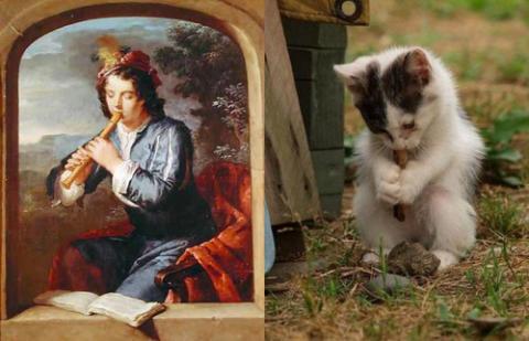 猫で「名画」を忠実に再現した作品