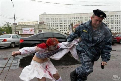 ロシアでしかお目にかかれない光景の写真