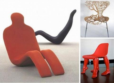 世界の奇妙で変わった椅子の写真