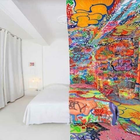お部屋の雰囲気がとってもユニークに見える写真