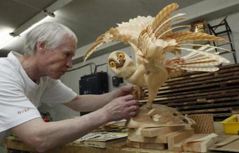 木製チップだけで作った動物