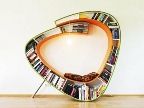 読書がどうしてもしたくなる!本好きにとって夢のような家具の写真