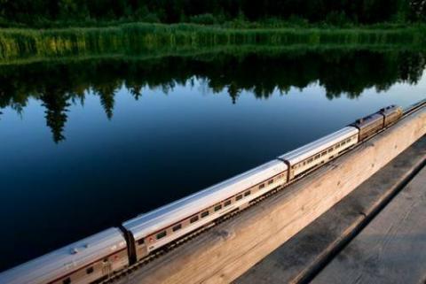カナダを旅したミニ列車