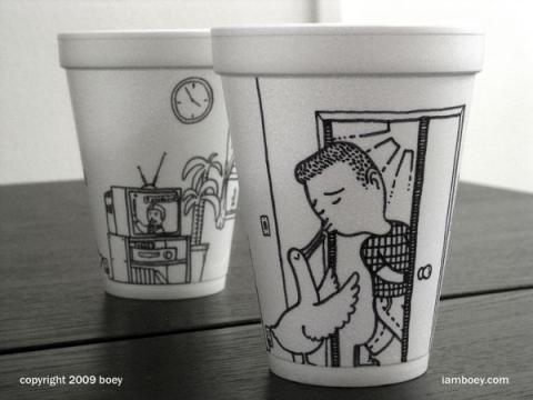 油性ペンだけで描かれたシャーピーアートがハイセンスでスゴい写真