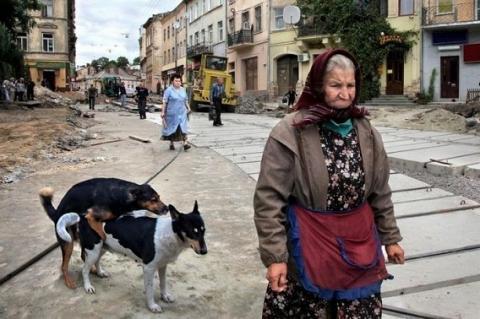 ロシアで見かけたシュールな光景の画像